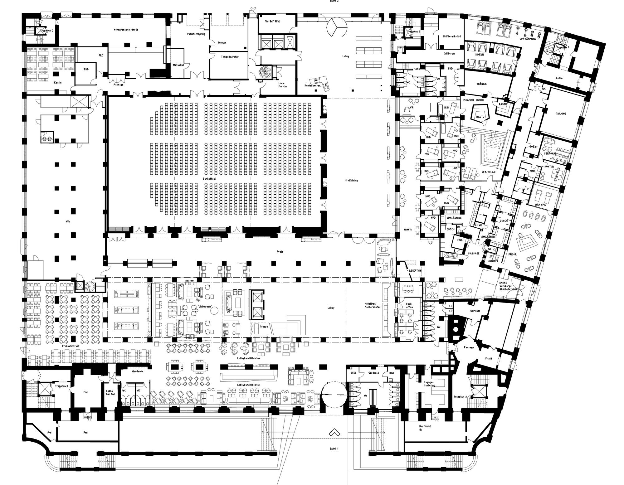 Planos de Clarion Hotel Post
