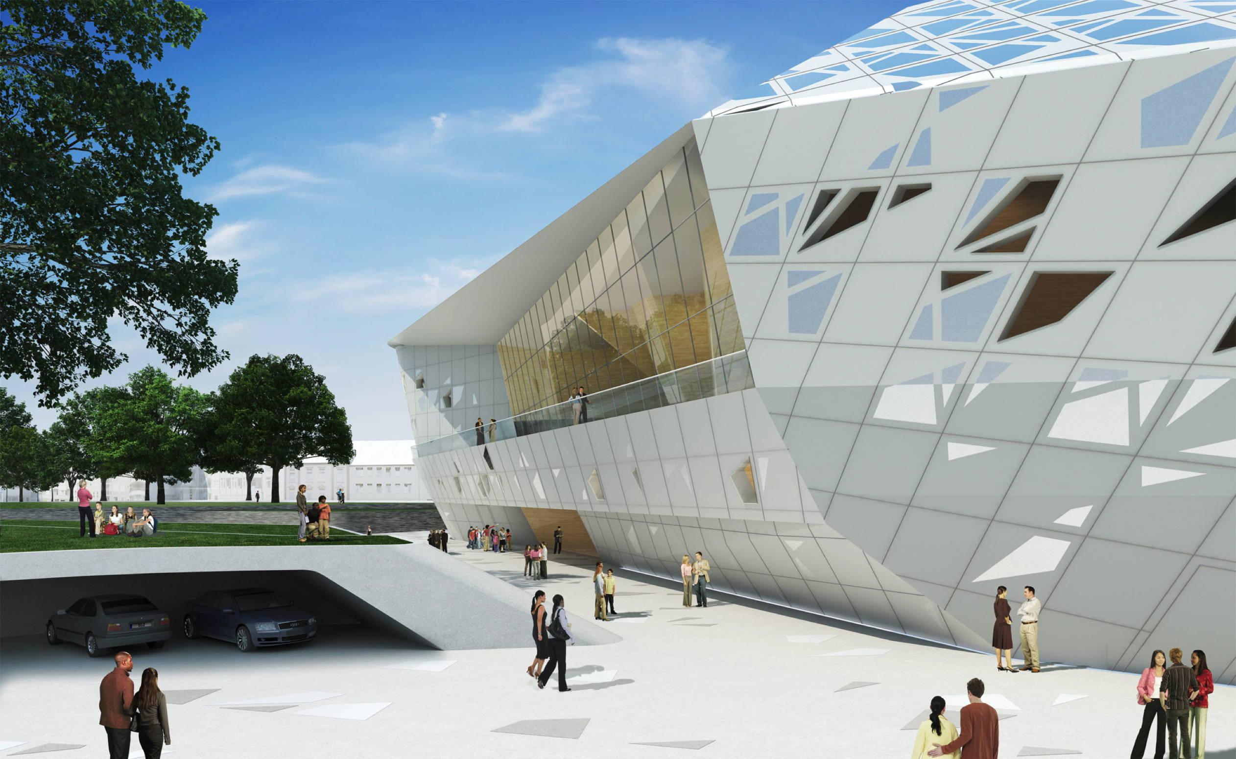 Proyecto de sala de conciertos Beethoven de Zaha Hadid