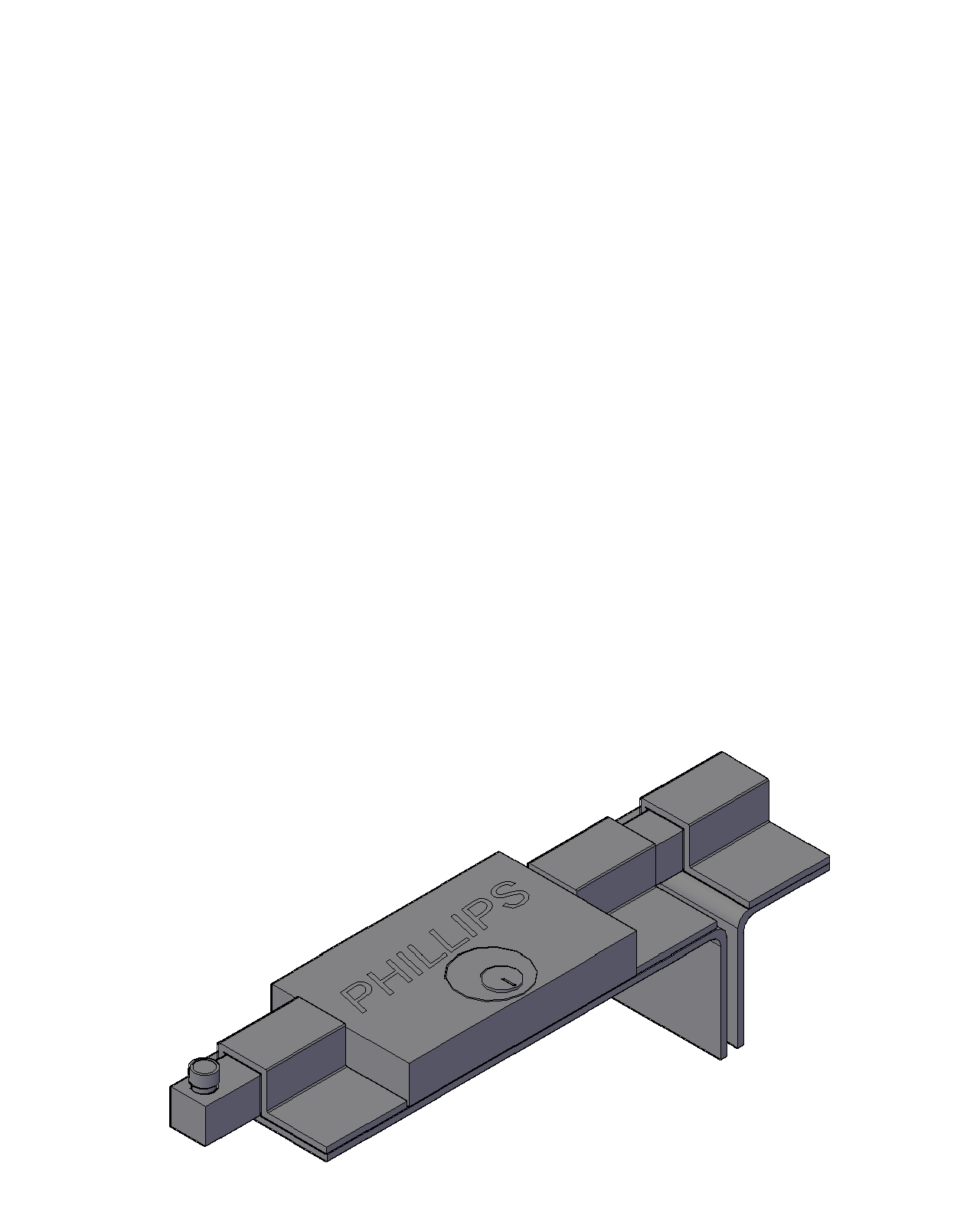 cerradura de barra en 3D marca Phillips