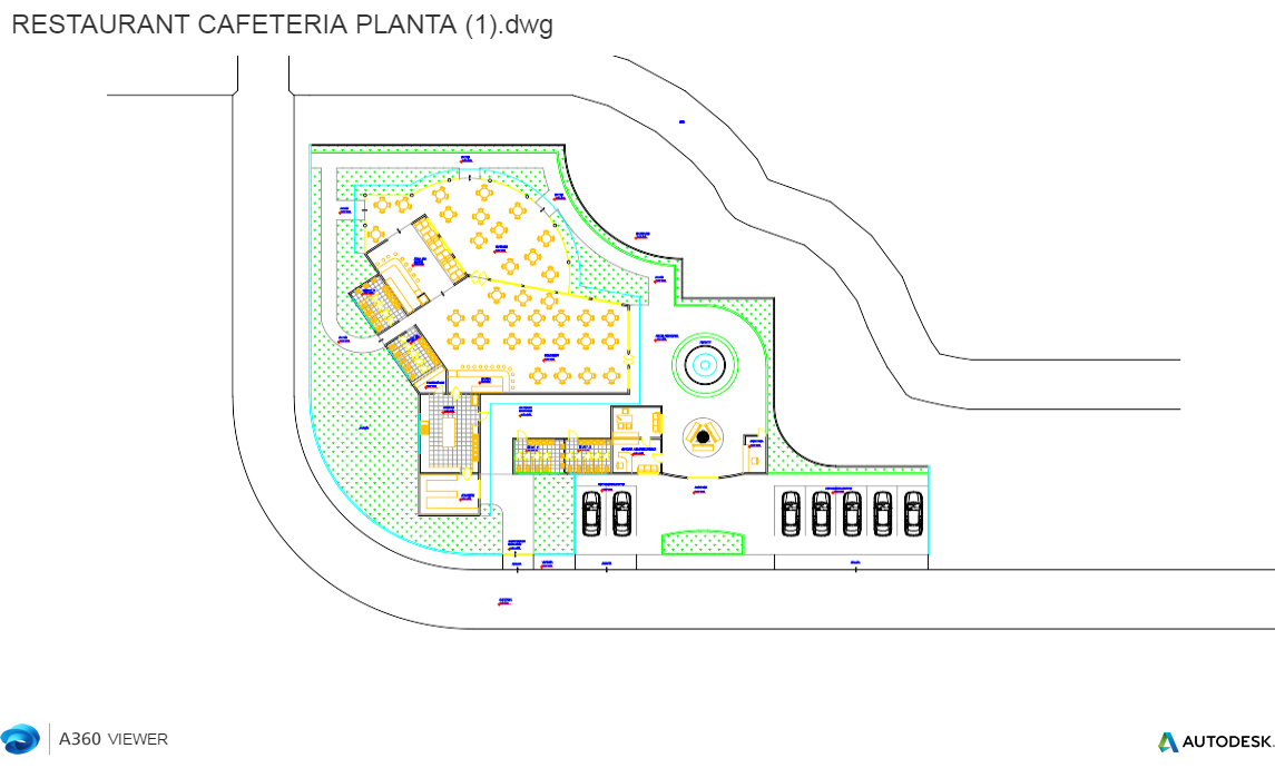 Descarga gratis planta restaurant cafeter a planos y for Planos para restaurantes