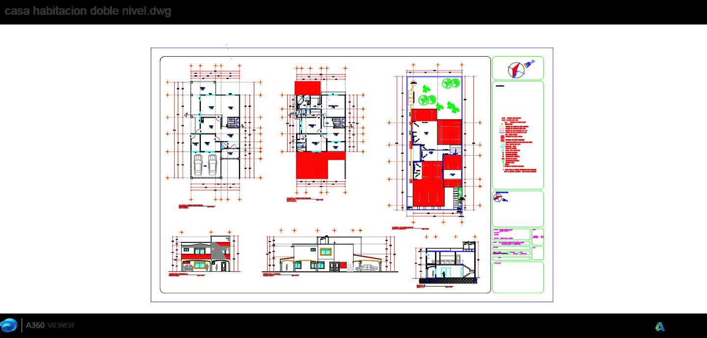 Casas De Dos Niveles Descarga Gratis De Planos Archivos Y  # Muebles Revit Gratis