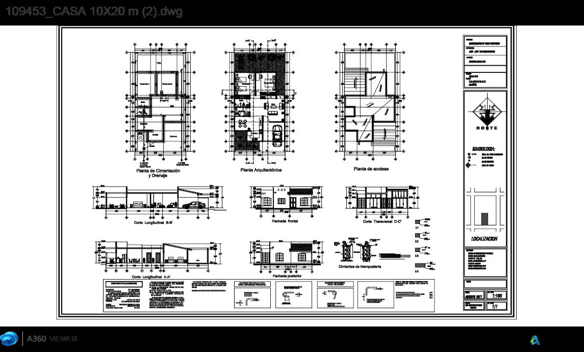 Descarga gratis plano casa 10x20 planos y bloques en Planos de casas de 200m2
