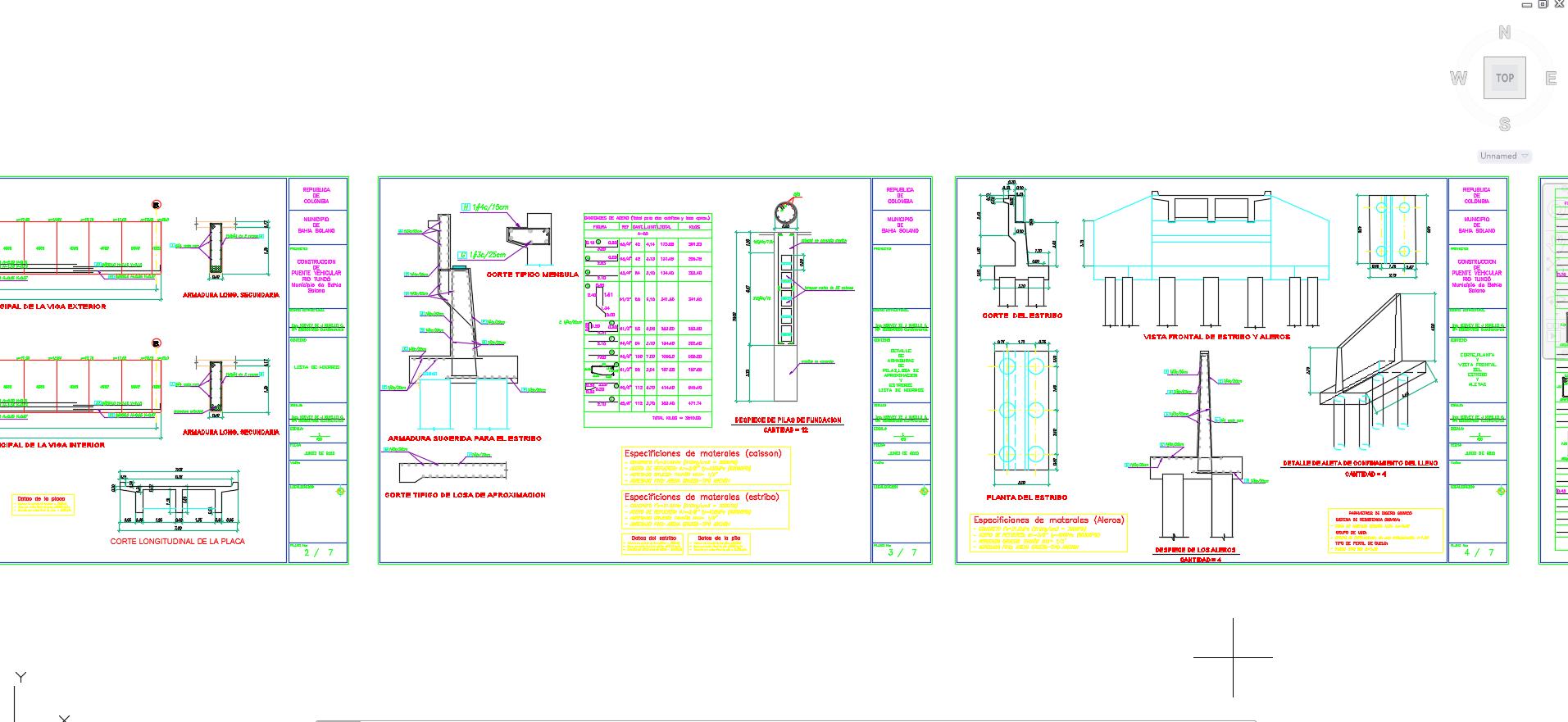 Planos de puentes descarga gratis de planos archivos y for Planos estructurales pdf