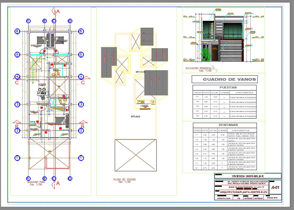 Casas de 50 a 100 m2 descarga gratis de planos archivos for Pie de plano arquitectonico pdf