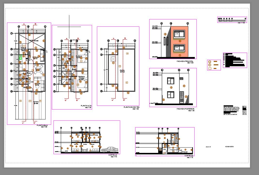 Casas de inter s social descarga gratis de planos for Planos estructurales pdf