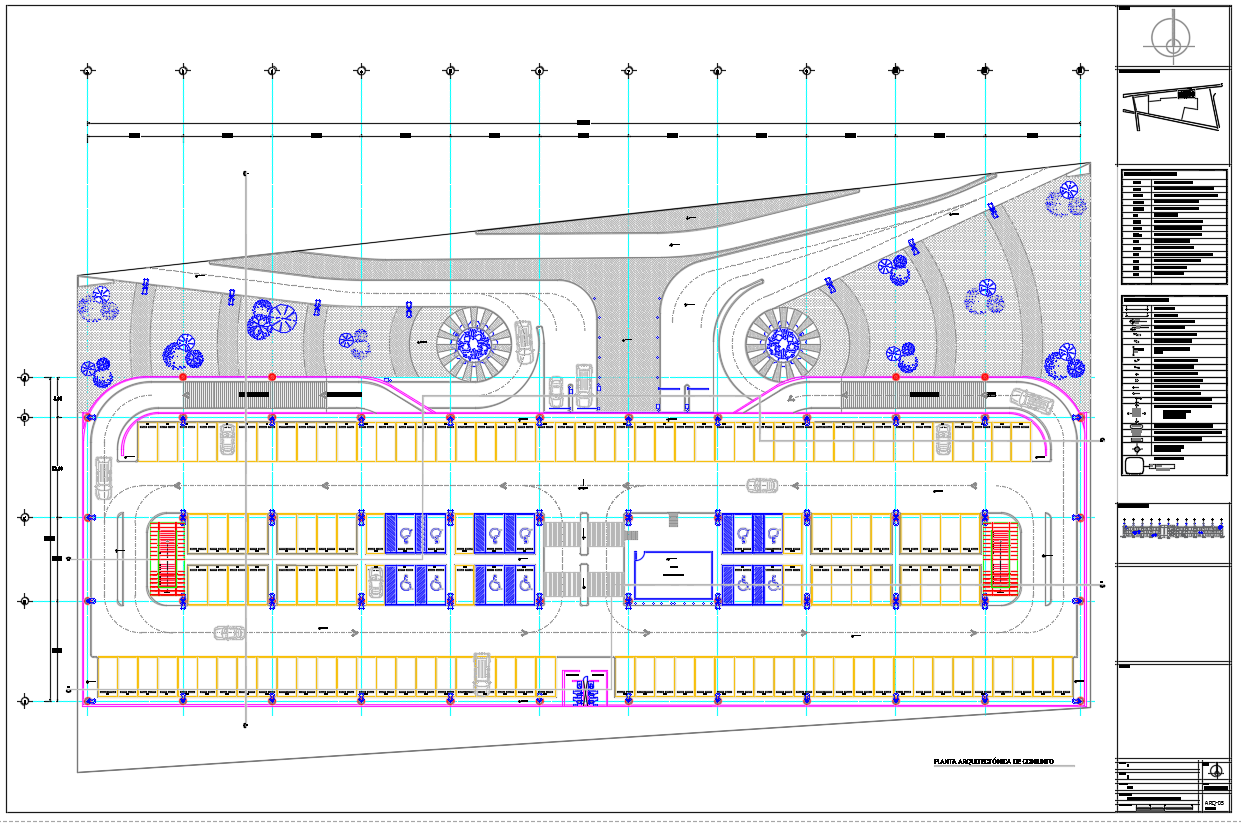 Descarga gratis edificio de estacionamiento planos y for Medidas de un carro arquitectura