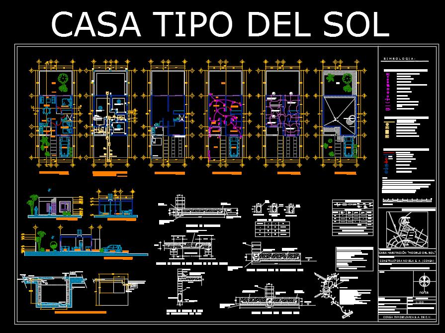 Descarga gratis planta arquitectonica del sol planos y for Pie de plano arquitectonico pdf