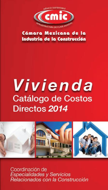 Catalogo de costos directos 2014 CMIC