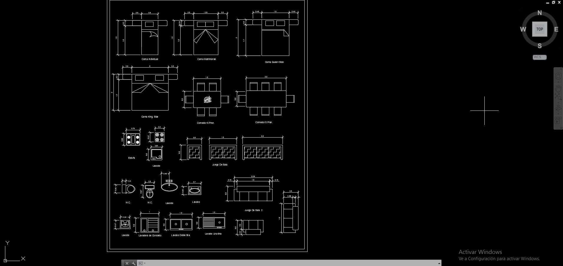 Descarga gratis plantilla de muebles esc 1 50 en hoja for Medidas en arquitectura pdf