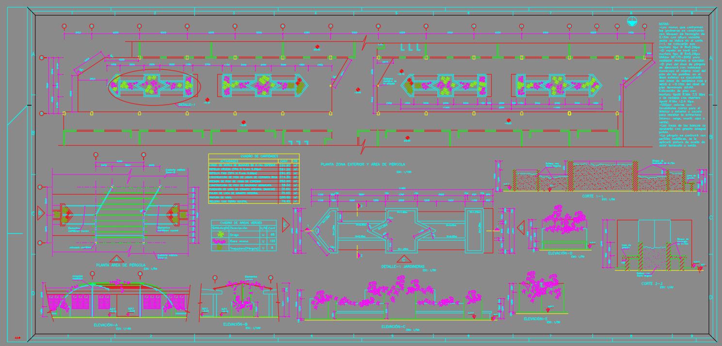 Diseño de Area de Pergolas