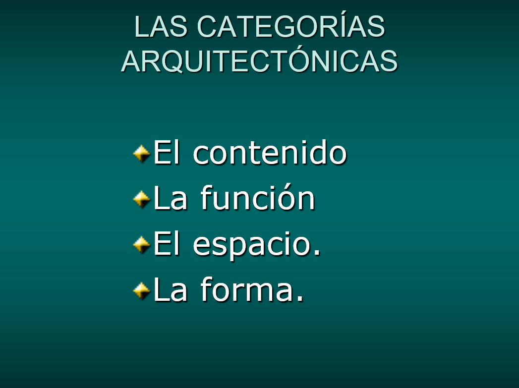 Categorias Arquitectonicas