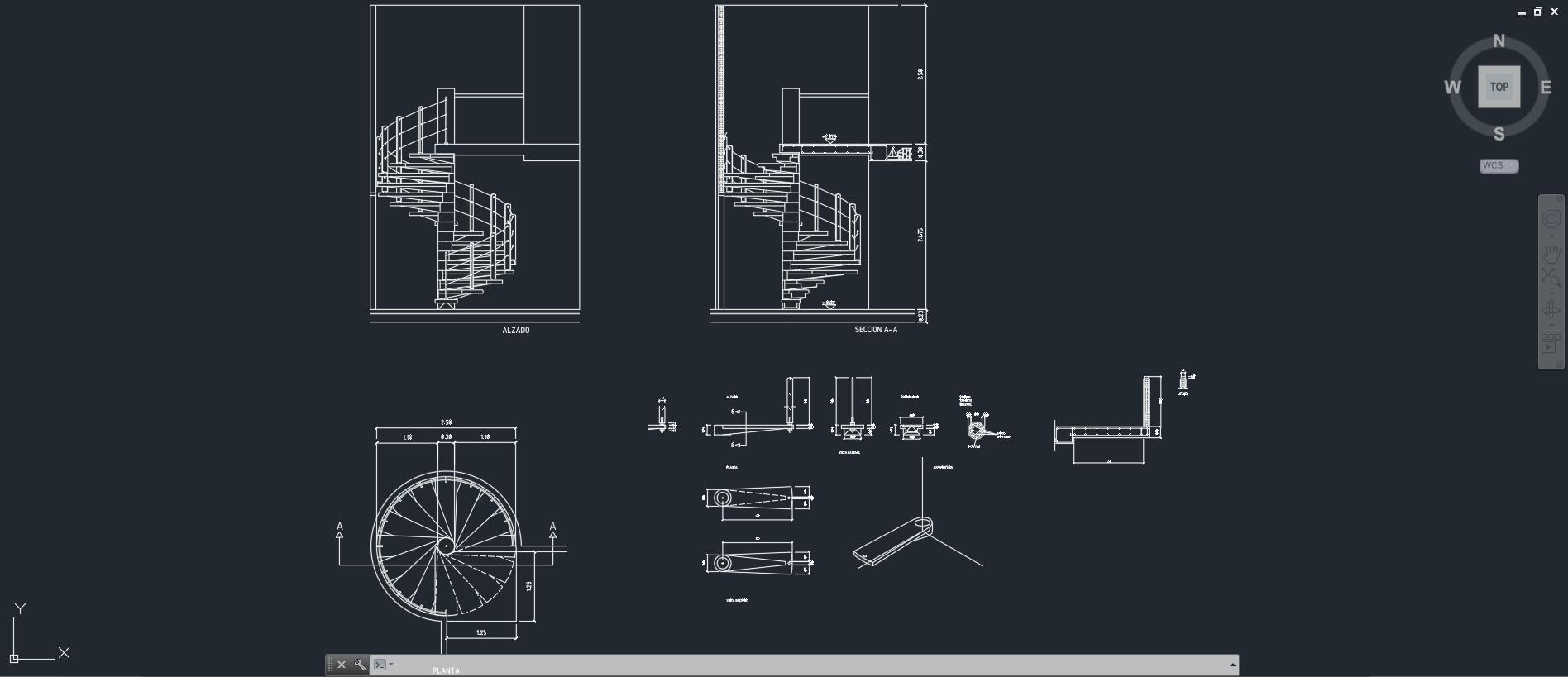 Escaleras descarga gratis de planos archivos y bloques for Escaleras en planta