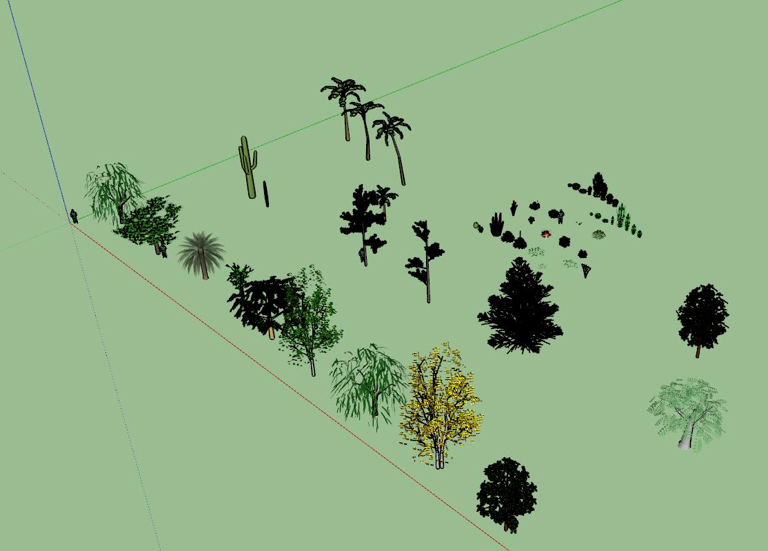 Arboles y Arbustos 3D para SketchUp