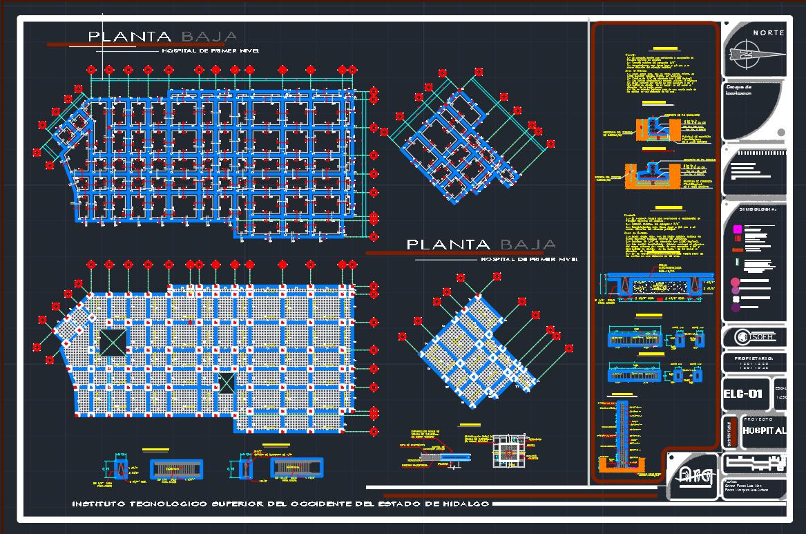 Plano Estructural Hospital