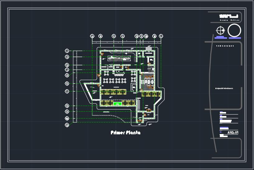 Planos de restaurant en AutoCAD