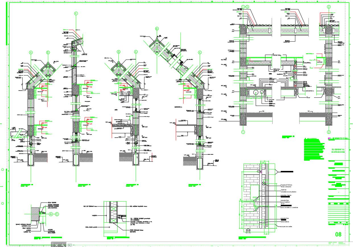 Proyecto de Aravena: Planos de  Detalles de BARNECHEA por Aravena