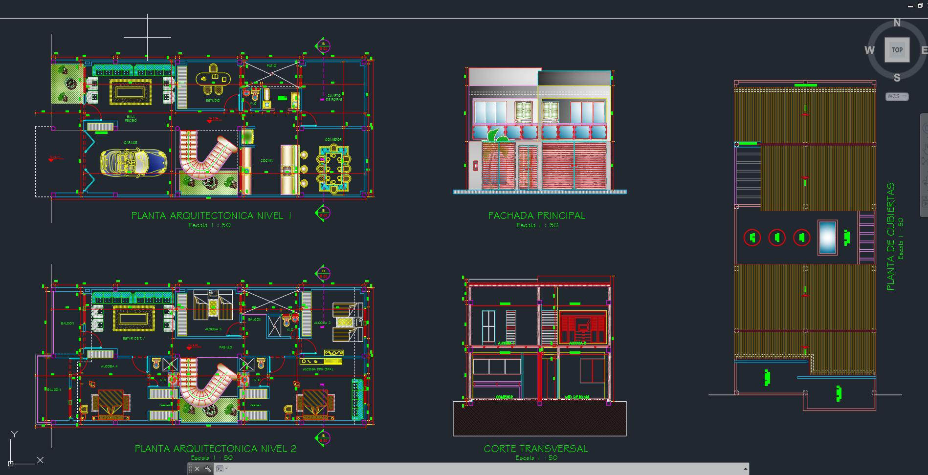 Casas de dos niveles descarga gratis de planos archivos for Que es un plano arquitectonico