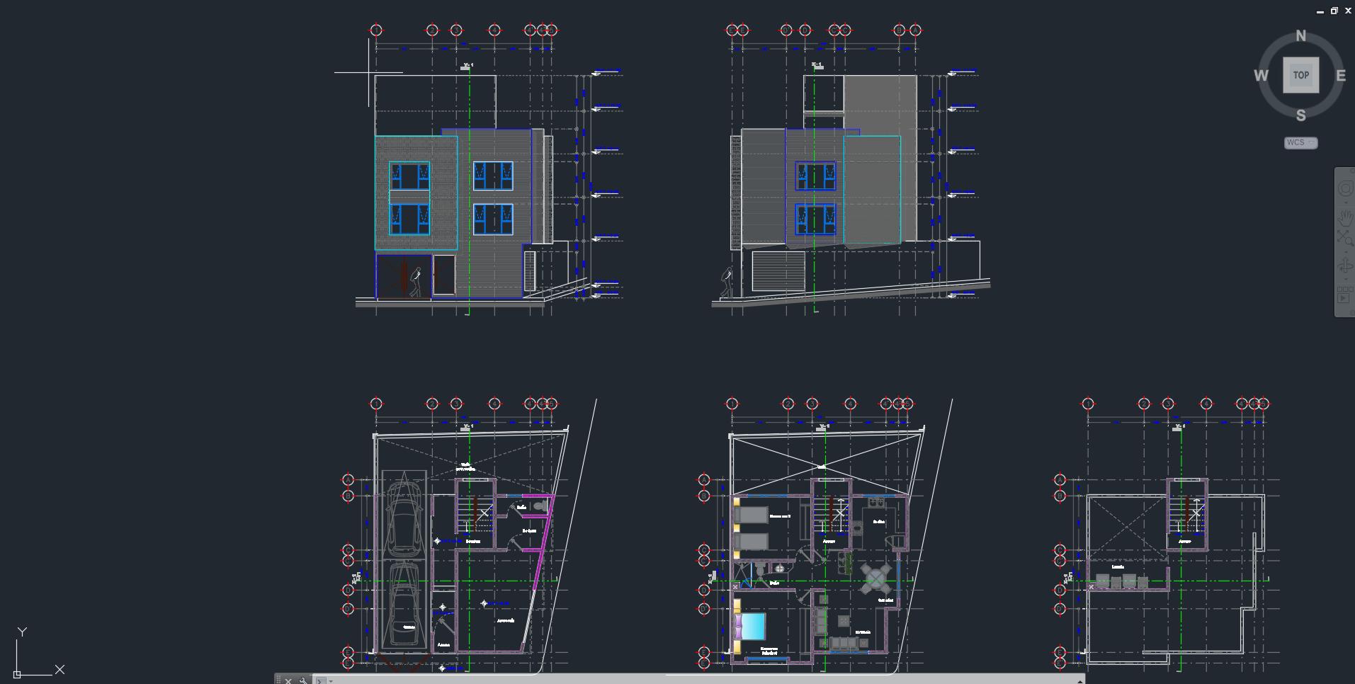 Proyecto de Casa Habitacion en dos niveles