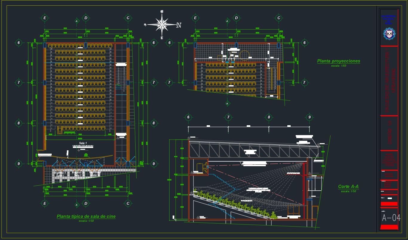 Planos de Cines y Teatros - Descarga GRATIS de planos, archivos y ...