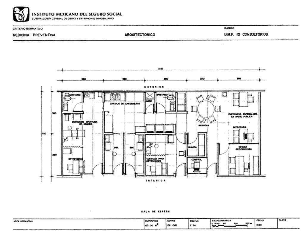Normas del IMSS para diseño de hospital
