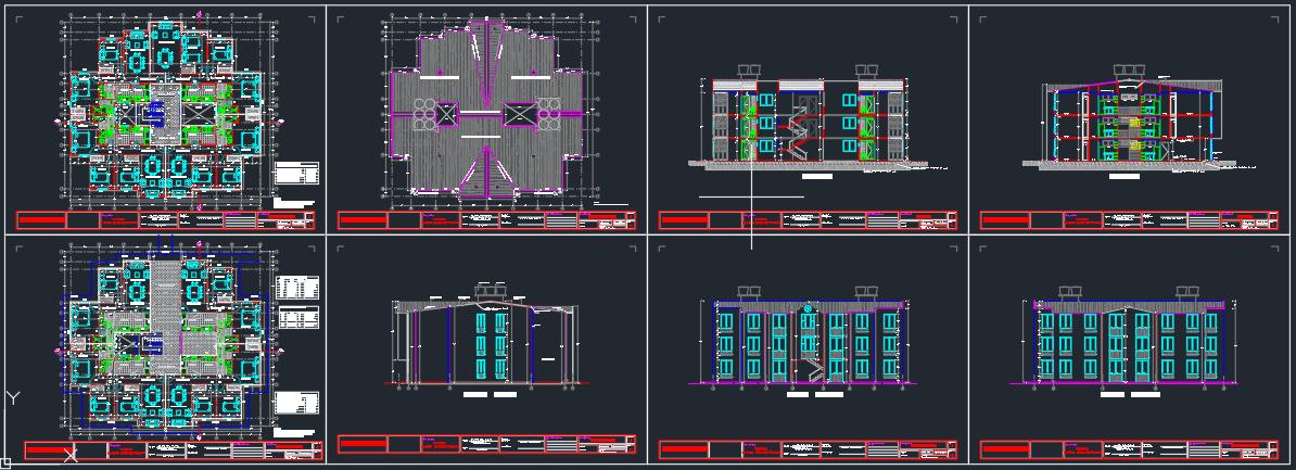 diseño arquitectonico de apartamentos en edificios