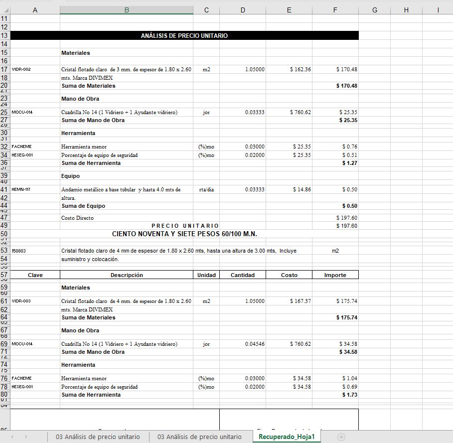 Descarga GRATIS: matriz de precios unitarios de opus - archivos y ...