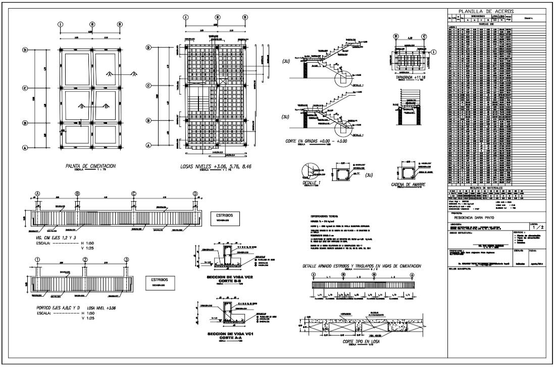 Descarga gratis residencia estructural planos y bloques for Planos de arquitectura pdf