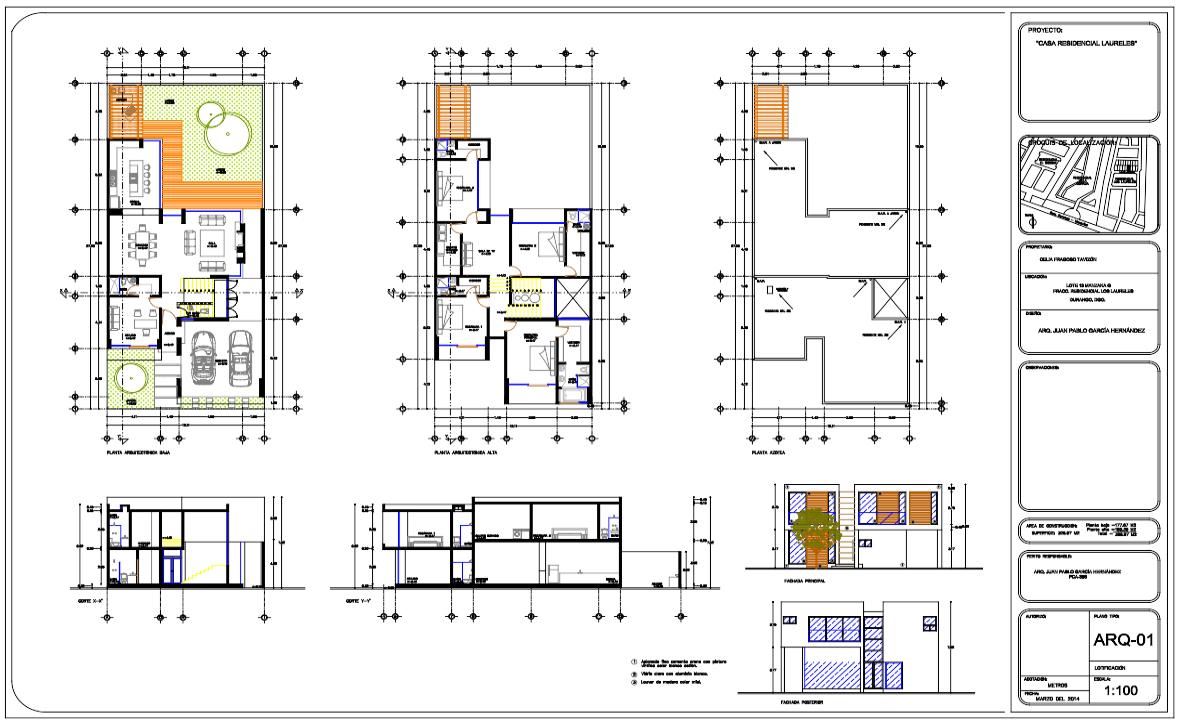 Casa tipo Residencia Dos niveles