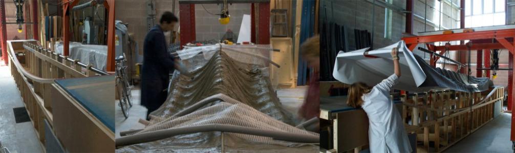 Moldajes textiles para estructuras laminares de hormigón