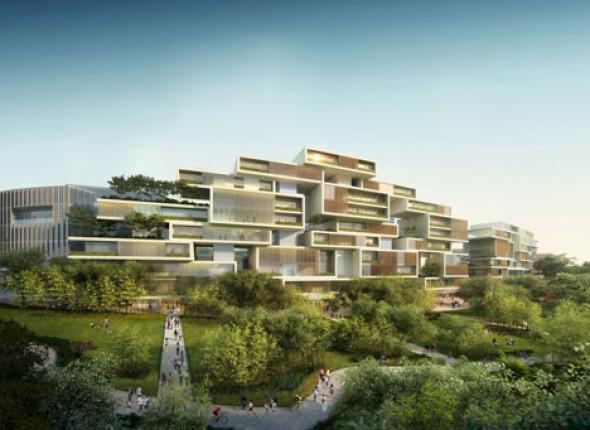 Ciudad satélite auto-sostenible para 80.000 habitantes