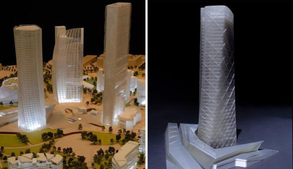 Zaha Hadid, Isozaki, y Daniel Libeskind diseñan en conjunto
