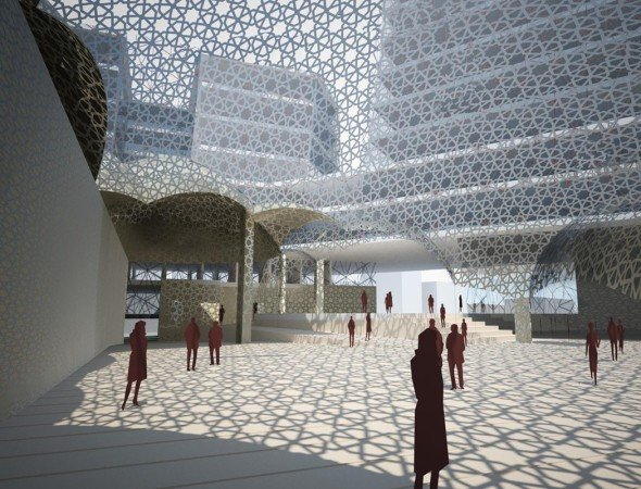 Tradicional arquitectura islámica contemporánea