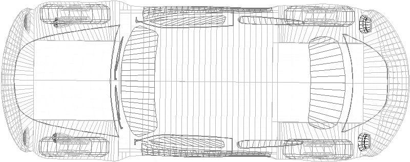 bloque de automóvil vocho en 3D