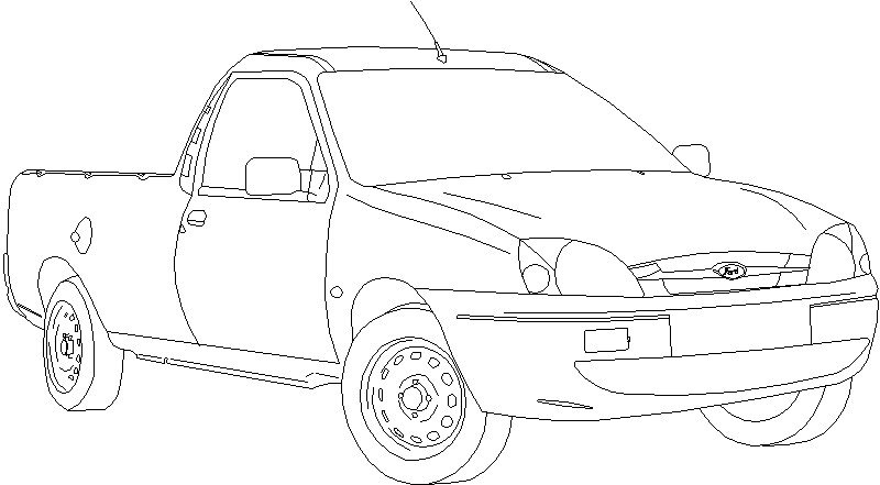 Ford Courier Medio Perfil