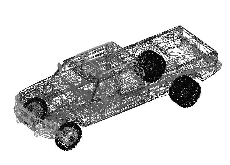 Camioneta Ford 3D