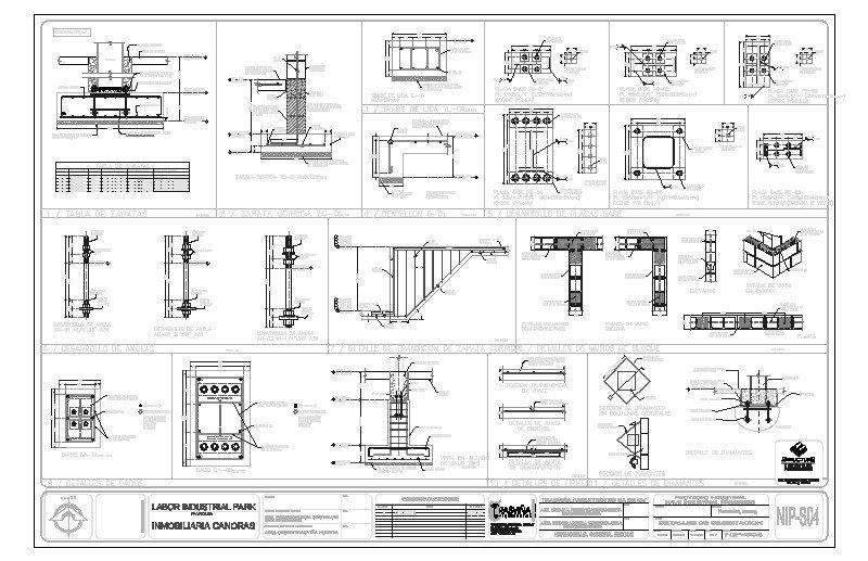 Detalles estructurales de Nave industrial