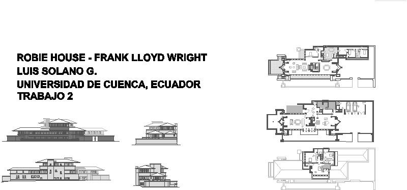 robie house de Frank Lloyd Wright