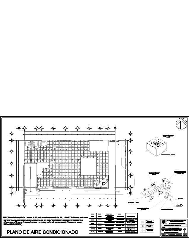 Plano de Aire Condicoinado plaza comercial