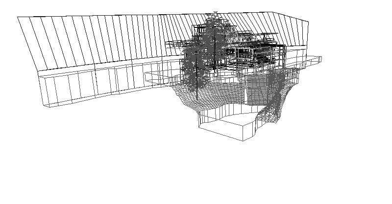 casa de la cascada de Frank Lloyd Wright 3D