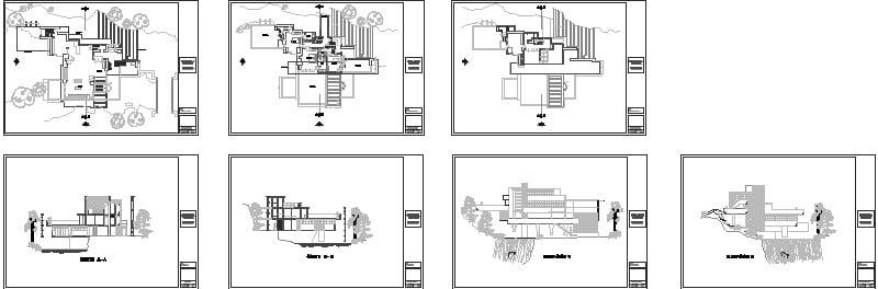 casa de la cascada de Frank Lloyd Wright