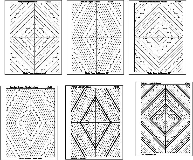 tipos de lines a 45 y 60