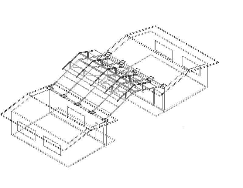 techado de aula con estructura