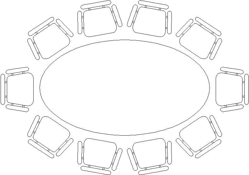bloque de mesa de sala de juntas