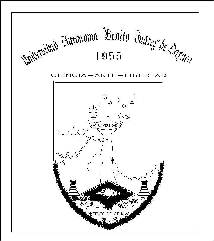 Escudo de la UABJ de Oaxaca [1955].