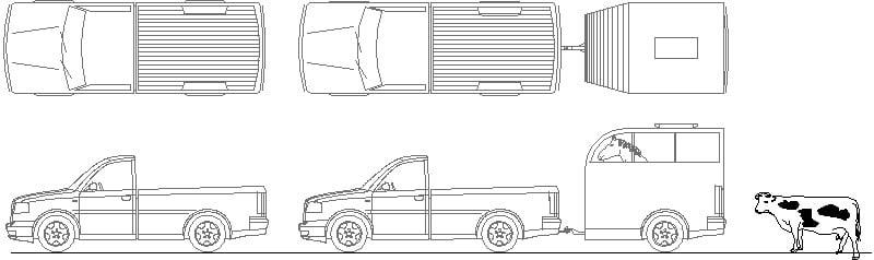 Camioneta Con Remolque