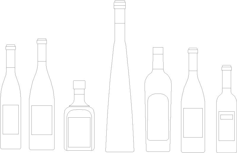 botella alzado
