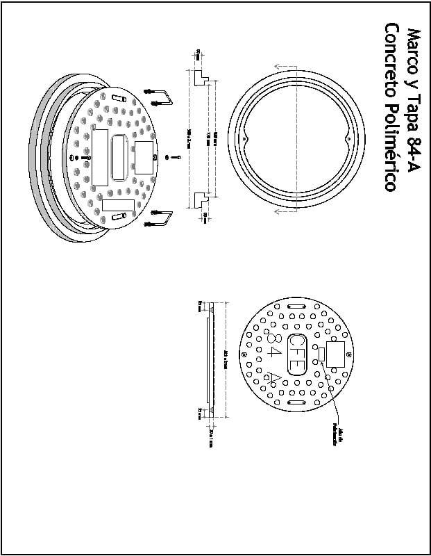 Tapa 84-A Polimerica CFE