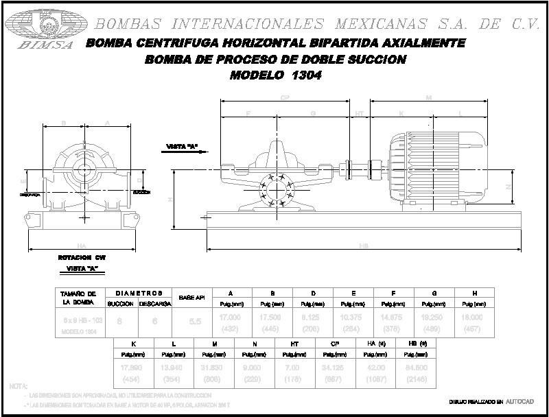 Dimensiones De Bomba Centrifuga