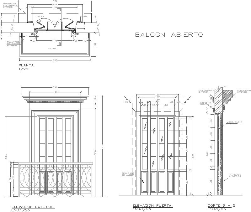 Detalle De Balcon Abierto