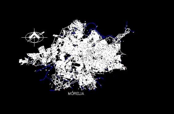 Plano De La Ciudad De Morelia